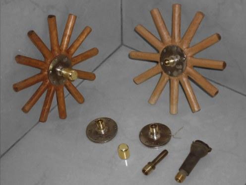 Armando la masa de las ruedas - Wheel hub assembly