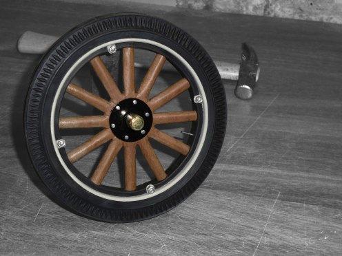 Rueda terminada - Finished wheel