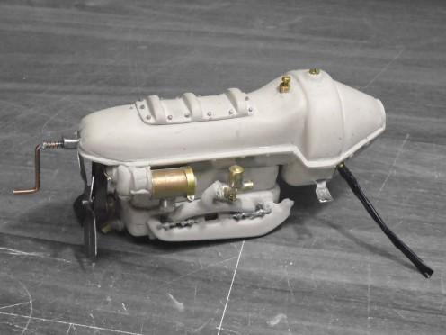 Carter. Vista de abajo del motor - Oil pan. Engine bottom view